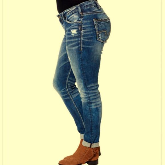 55fa3cb1 Silver Jeans Jeans | Plus 20 Girlfriend Ripped Stretch | Poshmark
